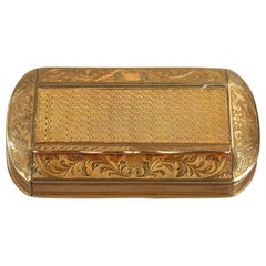 Gold Snuff Box, Restauration Period, circa 1820-1830
