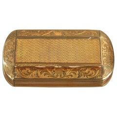 Gold Snuff Box Restauration Period
