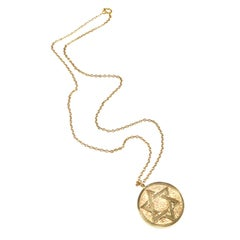 Gold Star of David Pendant Gift from Sammy Davis Jr. and Worn by Jerry Lewis