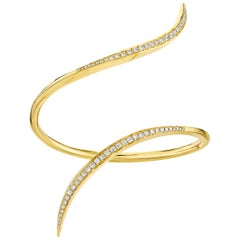 Gold Statement Cuff with Diamonds