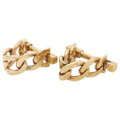 Gold Stirrup Cufflinks