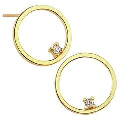 Gold Stud Earrings, Gold Earrings, 18 Karat Gold Earrings, Dainty Earrings