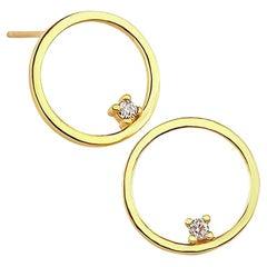 Gold Stud Earrings, Gold Earrings, 14 Karat Gold Earrings, Dainty Earrings