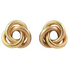 18K Gold Italian KNOT Earrings