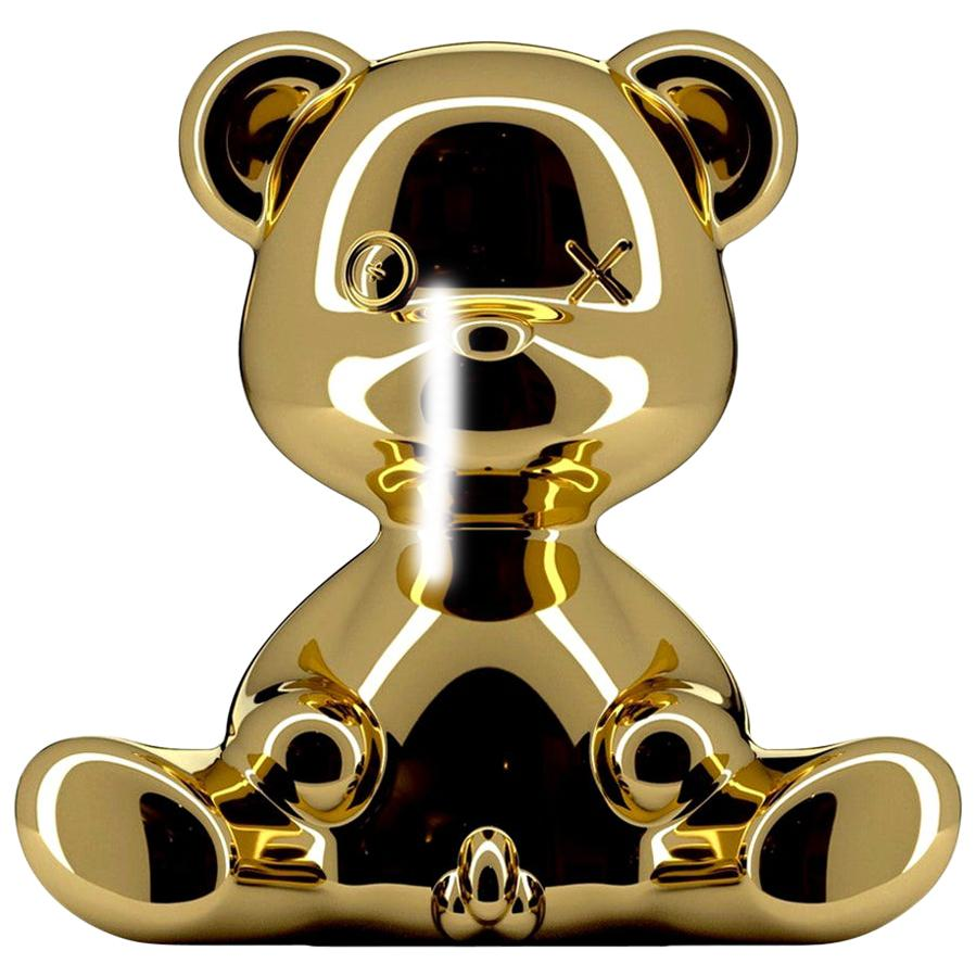 Gold Teddy Bear Lamp with LED, Made in Italy