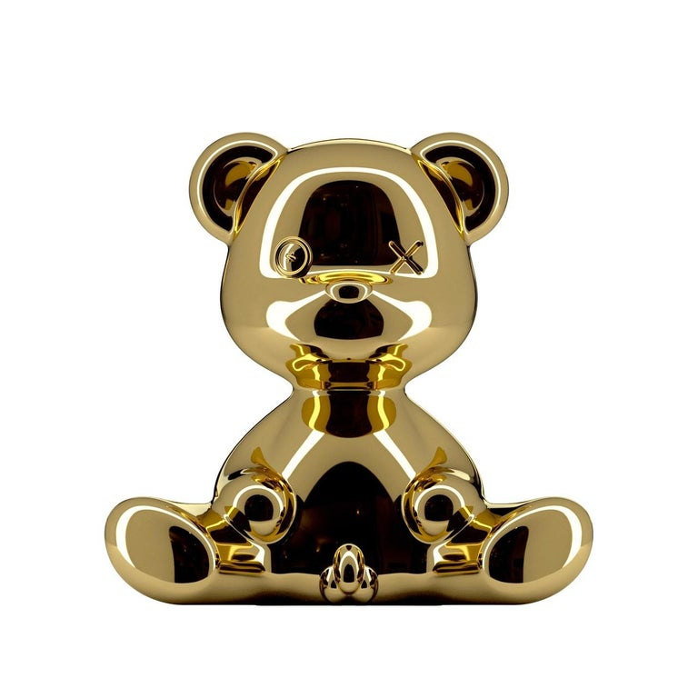 Modern Gold Teddy Boy Lamp with LED with Outlet, Made in Italy, In stock in Los Angeles For Sale