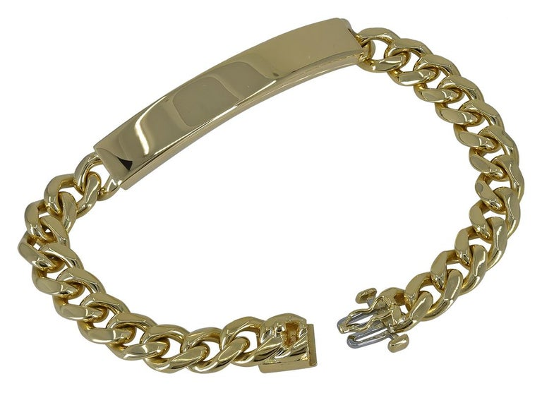 Gold Tiffany & Co. ID Bracelet In Excellent Condition For Sale In New York, NY