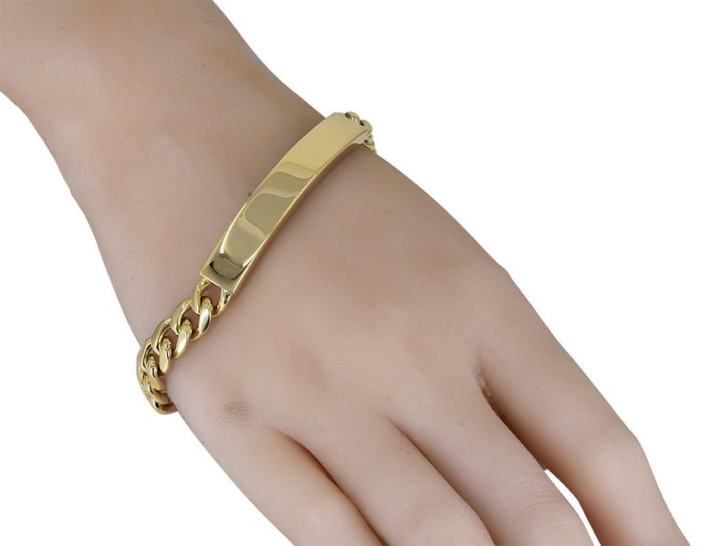 Women's or Men's Gold Tiffany & Co. ID Bracelet For Sale