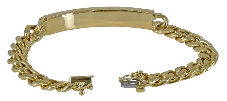 Gold Tiffany & Co. ID Bracelet For Sale 1
