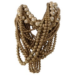 Gold tone pearls Necklace