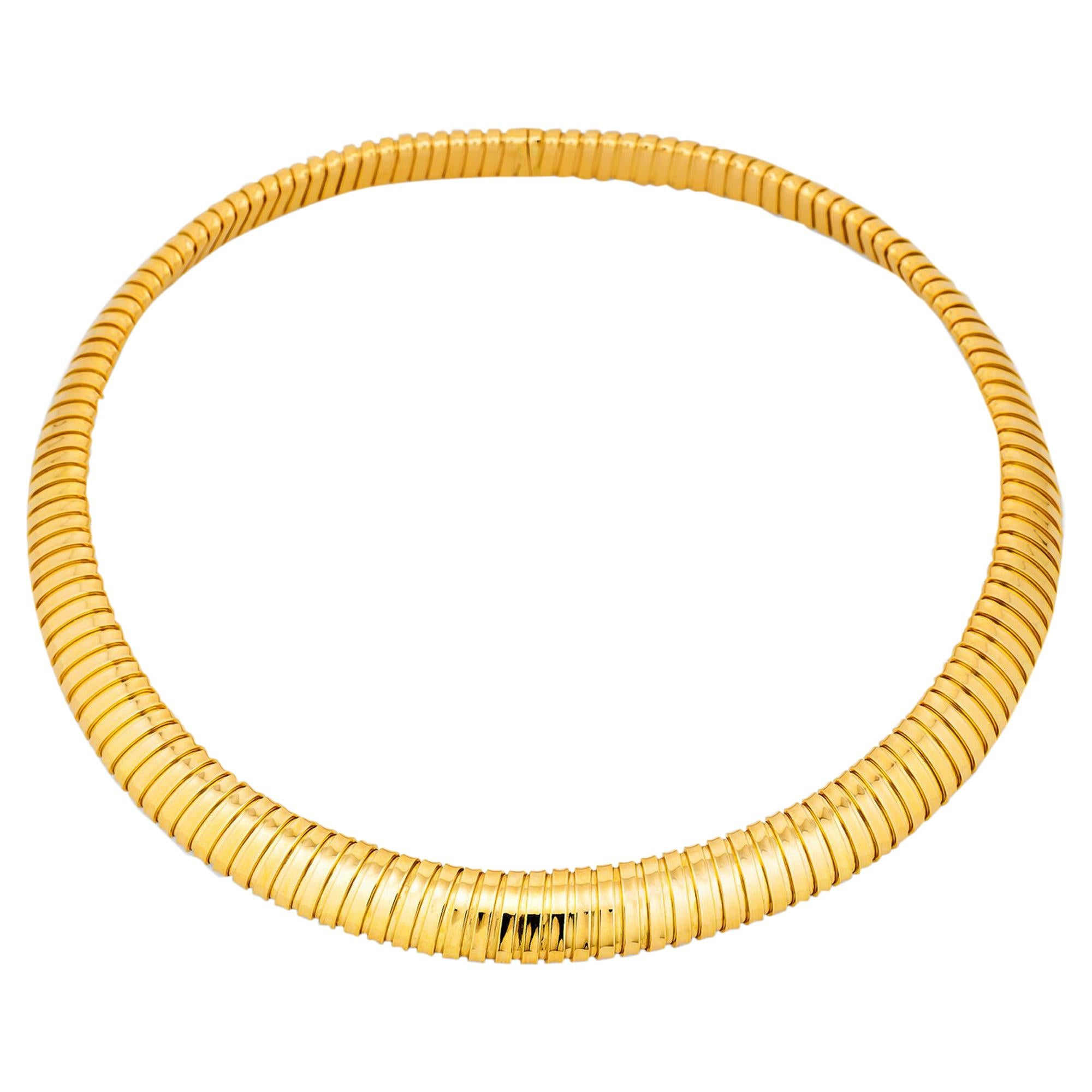 Gold Tubogas Choker Necklace