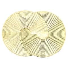 Gold Twin Circle Pin