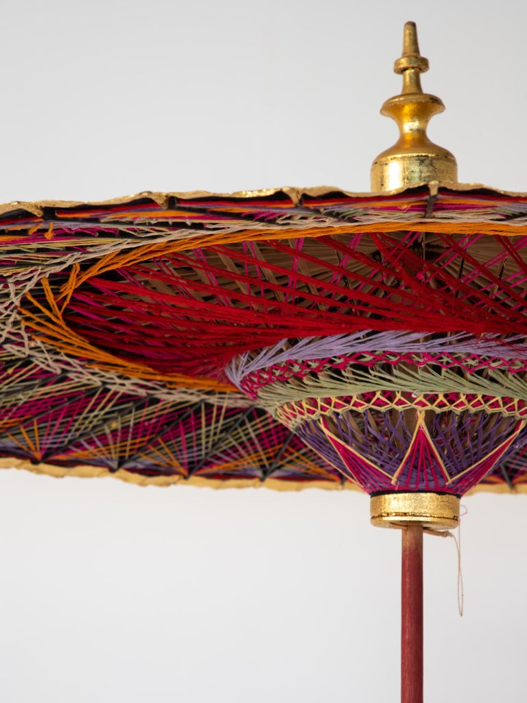 Gold Umbrella with Rainbow Accent For Sale 1