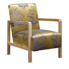 Gold Upholstered Armchair by Spini Firenze