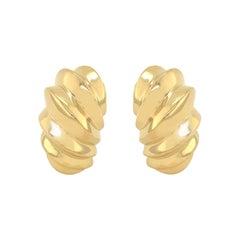 Gold Van Cleef & Arpels Beveled Earrings