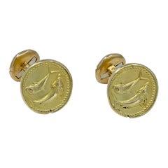 Gold Van Cleef & Arpels Pisces Cufflinks