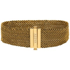 Gold Vermeil and Black Silk Woven Bracelet