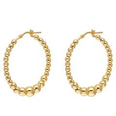 Gold Vermeil Classic Twist Hoop Earrings
