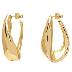 Gold Vermeil Oval Hoop Earrings