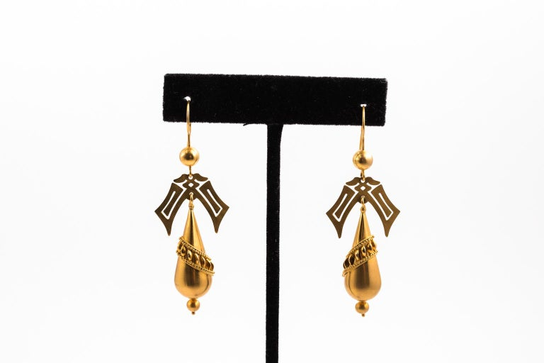 Gold Victorian Earrings 1