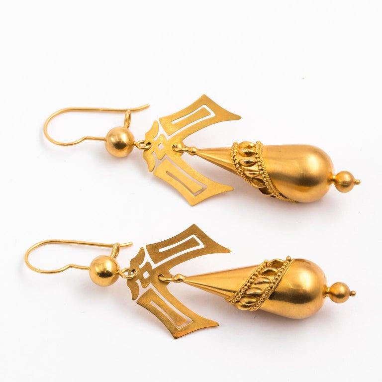 Gold Victorian Earrings 2