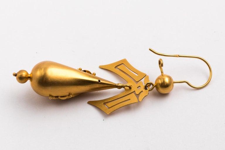 Gold Victorian Earrings 3
