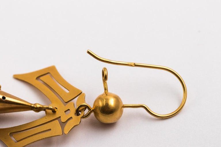 Gold Victorian Earrings 4
