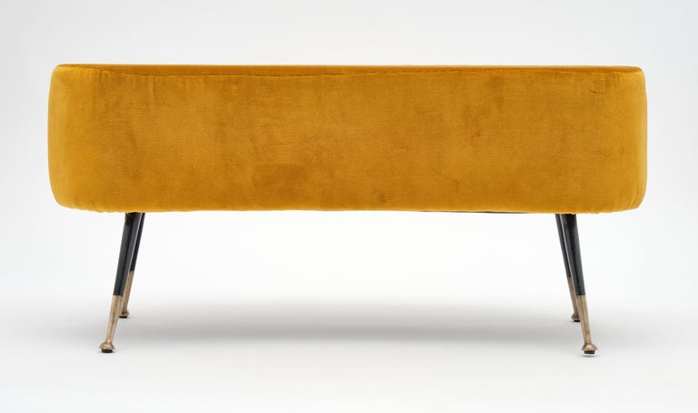 20th Century Gold Vintage Benches in the Manner of Carlo di Carli For Sale