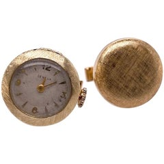 Gold Watch Cufflinks