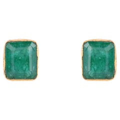 Gold with Emerald Earring