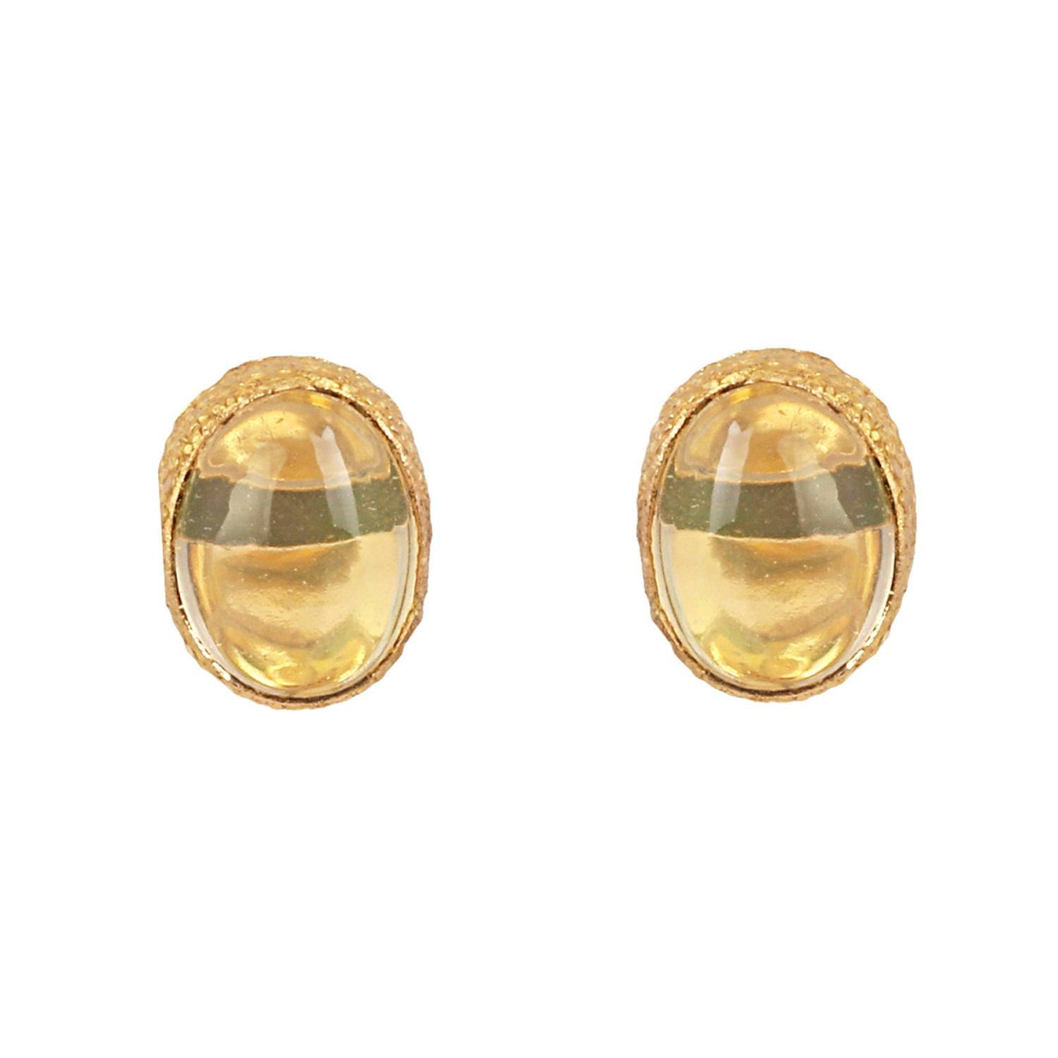 Gold with Opal Earring