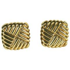 Gold Woven Knot Cufflinks