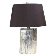 Goldberg Silver Tree Trunk Base Table Lamp