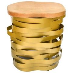 Golden Aluminum Bench or Stool, Ondulação