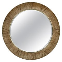 Golden Amber Round Mirror