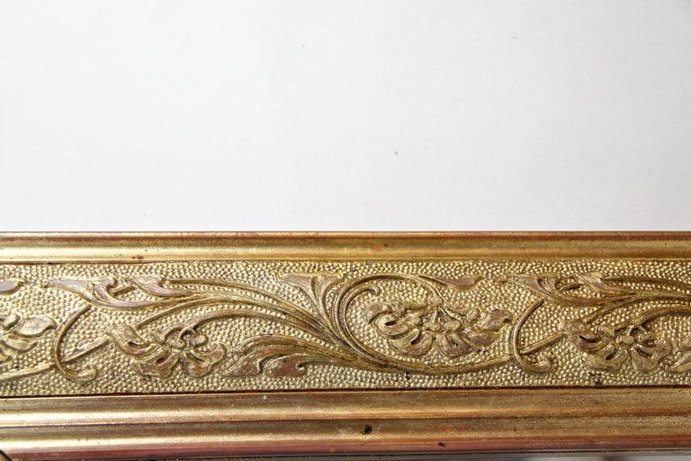 Golden Art Nouveau Mirror, Austria, circa 1900 For Sale 3