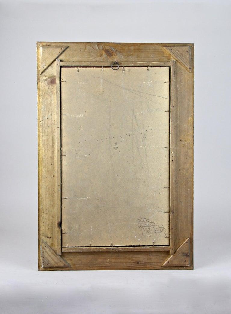Golden Art Nouveau Mirror, Austria, circa 1900 For Sale 4