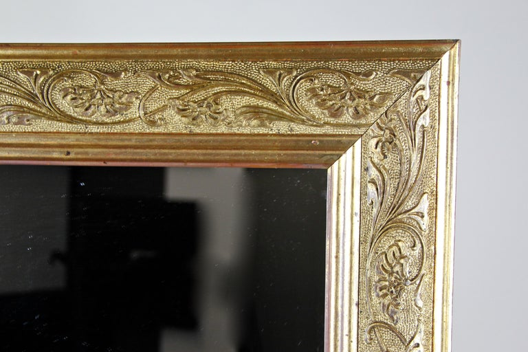 Austrian Golden Art Nouveau Mirror, Austria, circa 1900 For Sale
