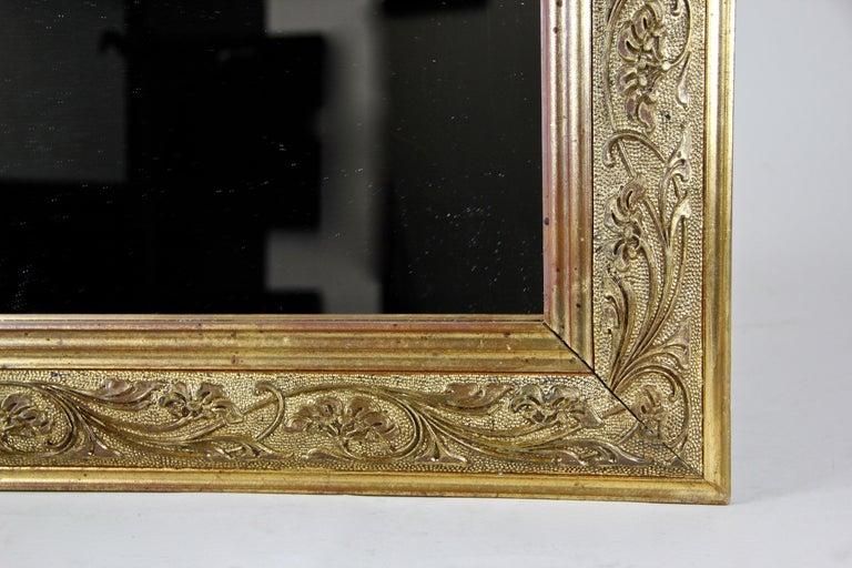 Gilt Golden Art Nouveau Mirror, Austria, circa 1900 For Sale