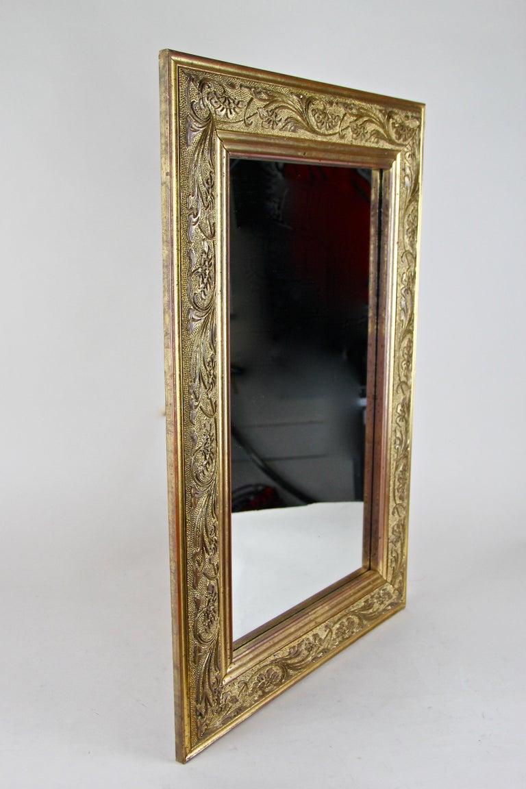 20th Century Golden Art Nouveau Mirror, Austria, circa 1900 For Sale