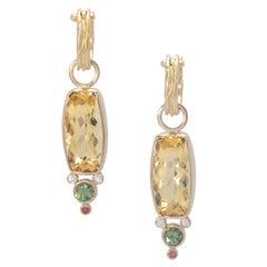 Golden Beryl Kami Drop Earrings