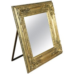 Golden Biedermeier Wall or Table Mirror, France, circa 1860