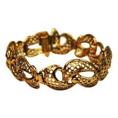 Golden Brass Armbracelet, Finland, 1970s