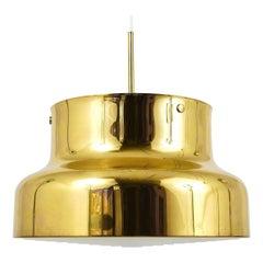 Golden Brass Pendant Lamp Bumling, Anders Pehrson, Ateljé Lyktan, Sweden, 1960s