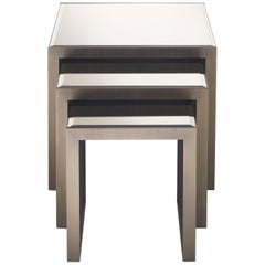 Golden Bridge Side Table with Metal Base by Roberto Cavalli Home Interiors