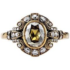Golden Brown Diamond Engagement Ring