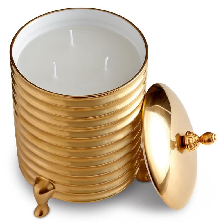 Gold Plate Golden Candle Box For Sale