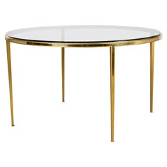 Golden circular Mid-Century Modern Brass coffee table by Vereinigte Werkstätten