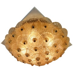 Golden Crystal Ceiling Light
