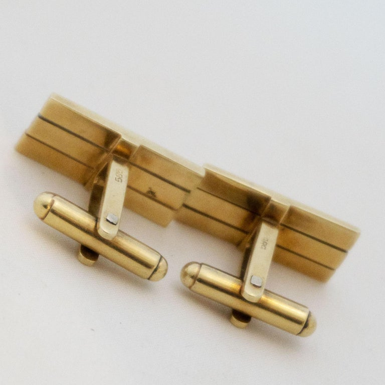 Men's Golden Cufflinks Tricolor For Sale